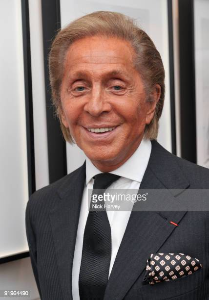 Designer Valentino Garavani attends the private view for 'Once Upon A Time' on October 16 2009 in London England