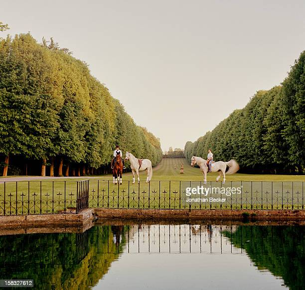 Designer Valentino is photographed for Vanity Fair Magazine on May 19, 2004 at his Chateau de Wideville in Davron, France. PUBLISHED IN JONATHAN...