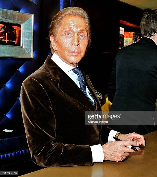 Designer Valentino signs copies of his book 'Valentino A Grand Italian Epic' at Taschen on April 2 2009 in Beverly Hills California