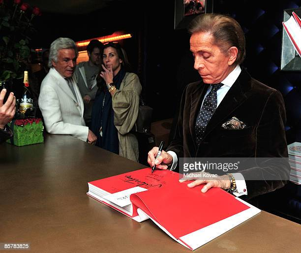 Designer Valentino signs copies of 'Valentino A Grand Italian Epic' at Taschen on April 2 2009 in Beverly Hills California