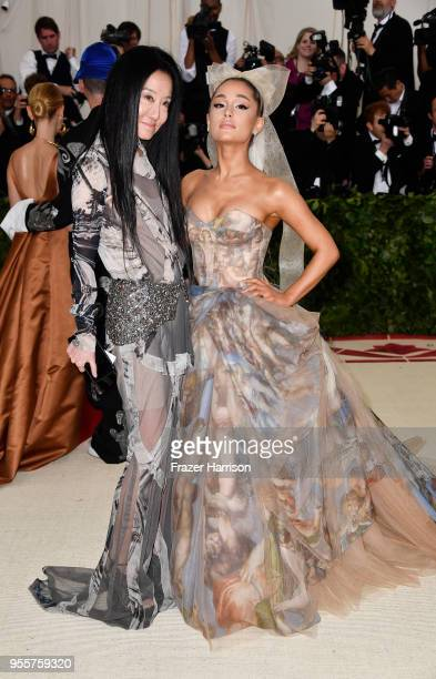 Designer Vera Wang and Ariana Grande attend the Heavenly Bodies Fashion The Catholic Imagination Costume Institute Gala at The Metropolitan Museum of...