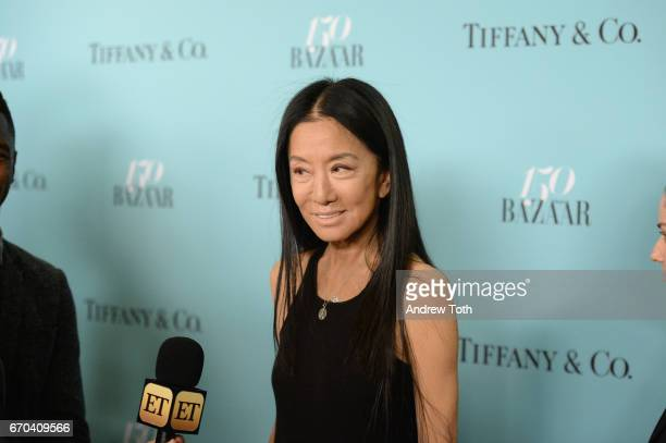 Designer Vera Wang attends Harper's BAZAAR 150th Anniversary Event presented with Tiffany Co at The Rainbow Room on April 19 2017 in New York City