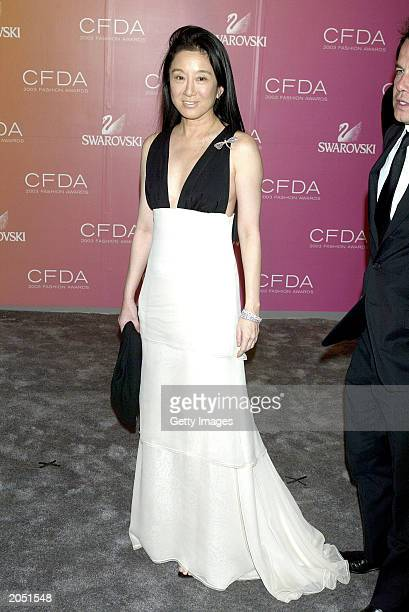 """Designer Vera Wang attends the """"2003 CFDA Fashion Awards"""" at the New York Public Library on June 2, 2003 in New York City. The """"2003 CFDA Fashion..."""