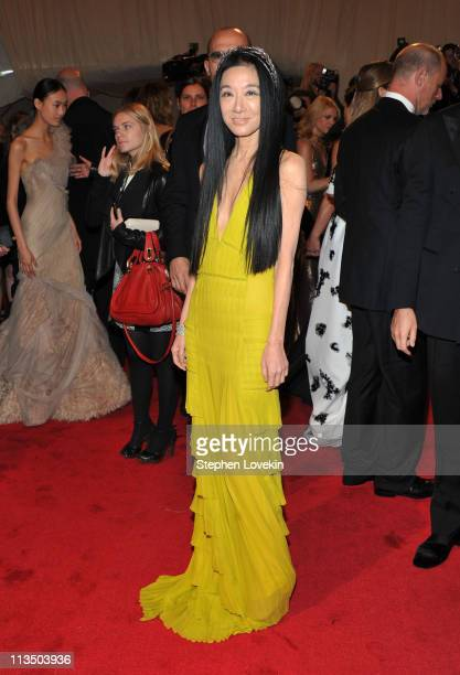 Designer Vera Wang attends the Alexander McQueen Savage Beauty Costume Institute Gala at The Metropolitan Museum of Art on May 2 2011 in New York City