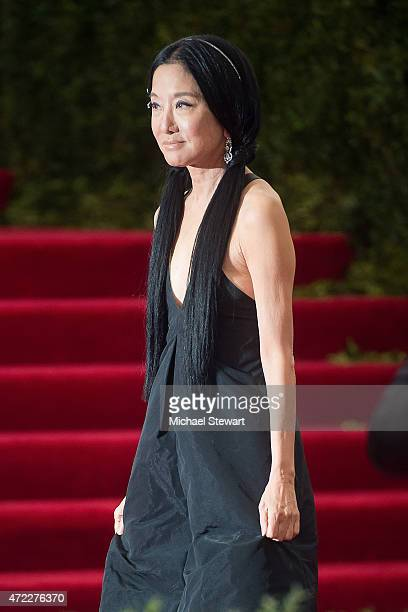 Designer Vera Wang attends the China Through The Looking Glass Costume Institute Benefit Gala at Metropolitan Museum of Art on May 4 2015 in New York...