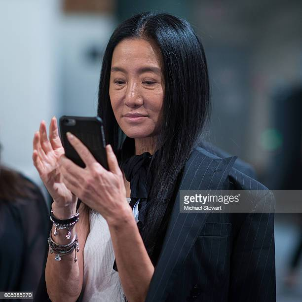 Designer Vera Wang attends the Vera Wang Collection fashion show during September 2016 New York Fashion Week The Shows at The Arc Skylight at...