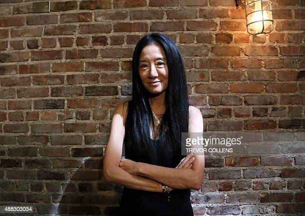 Designer Vera Wang pictured backstage after her presentation during New York Fashion Week in New York September 15 2015 AFP PHOTO/TREVOR COLLENS
