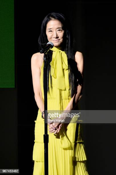 Designer Vera Wang speaks onstage during the 2018 CFDA Fashion Awards at Brooklyn Museum on June 4 2018 in New York City