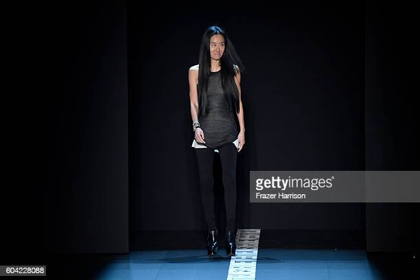 Designer Vera Wang walks the runway at the Vera Wang Collection fashion show during New York Fashion Week The Shows at The Arc Skylight at Moynihan...