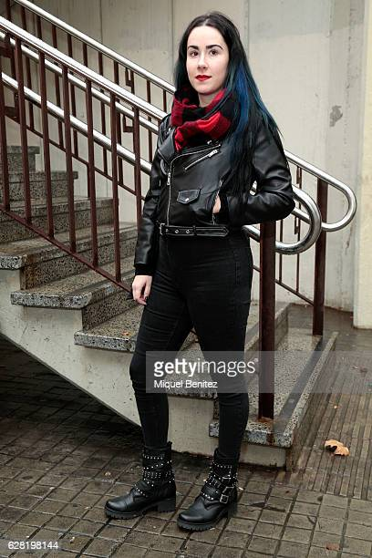 Designer Veronica is wearing a Zara leather jacket, H&M jeans, Pezones Electronicos, Electrik Nipples Clothes Bag and Urban Outfitters at the...