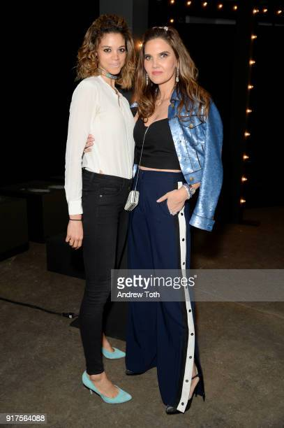 Designer Veronica Miele Beard and guest attend the Veronica Beard Fall 2018 presentation at Highline Stages on February 12 2018 in New York City
