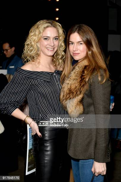 Designer Veronica Swanson Beard and author Claiborne Swanson Frank attend the Veronica Beard Fall 2018 presentation at Highline Stages on February 12...