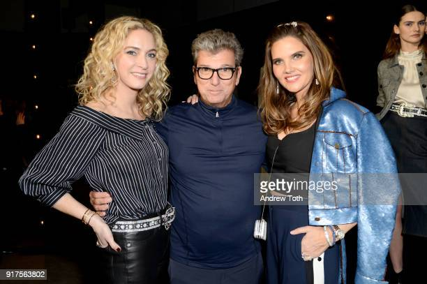 Designer Veronica Swanson Beard and Veronica Miele Beard and guest attebd the Veronica Beard Fall 2018 presentation at Highline Stages on February 12...