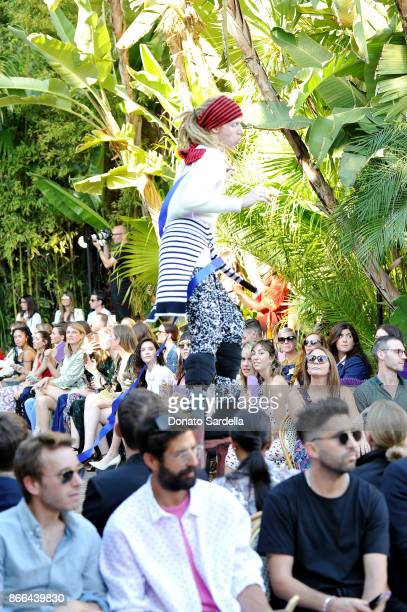 Designer Victor Glemaud at CFDA/Vogue Fashion Fund Show and Tea at Chateau Marmont at Chateau Marmont on October 25 2017 in Los Angeles California