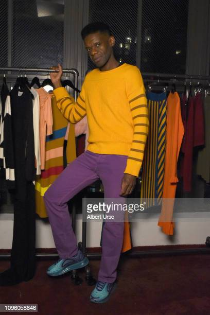 Designer Victor Glemaud poses for his presentation during New York Fashion Week The Shows at Sunken Living Room at Spring Studios on February 8 2019...