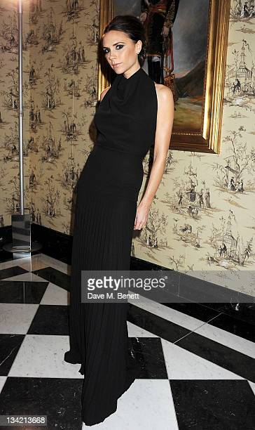Designer Victoria Beckham attends a drinks reception at the British Fashion Awards 2011 held at The Savoy Hotel on November 28 2011 in London England