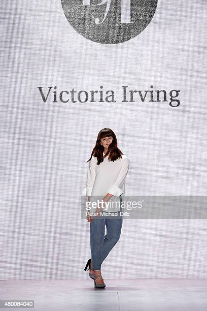 Designer Victoria Irving walks the runway at the fashion talent award 'Designer for Tomorrow' by Peek Cloppenburg and Fashion ID hosted by Zac Posen...