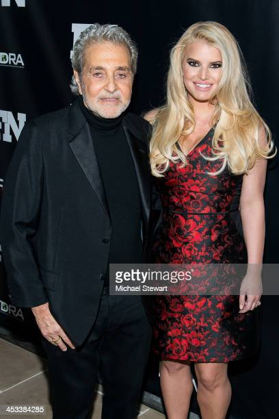 Designer Vince Camuto and singer Jessica Simpson attend the 27th Annual Footwear News Achievement Awards at the IAC Building on December 3, 2013 in...