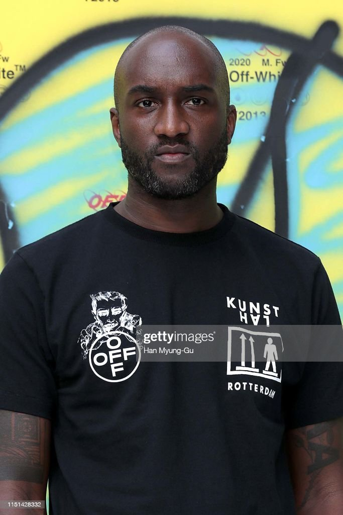 Off-White Illustrations Art Work Show With Virgil Abloh : News Photo