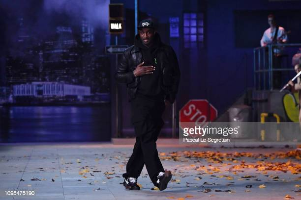 Designer Virgil Abloh walks the runway during the Louis Vuitton Menswear Fall/Winter 2019-2020 show as part of Paris Fashion Week on January 17, 2019...
