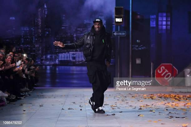 Designer Virgil Abloh walks the runway during the Louis Vuitton Menswear Fall/Winter 20192020 show as part of Paris Fashion Week on January 17 2019...