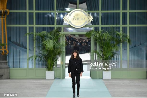 Designer Virginie Viard walks the runway during Chanel Cruise 2020 Collection at Le Grand Palais on May 03 2019 in Paris France