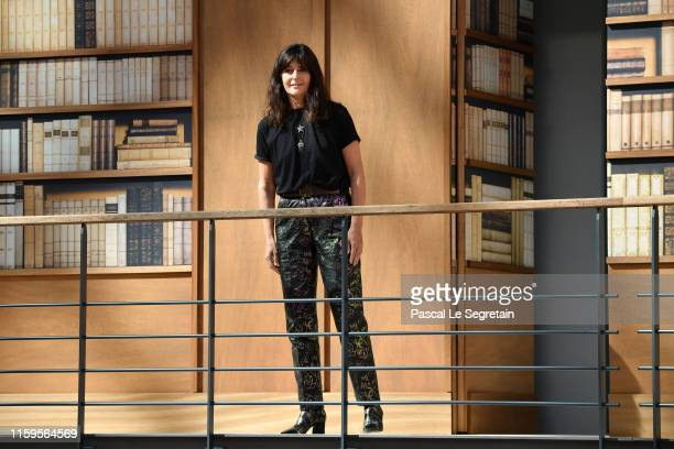 Designer Virginie Viard walks the runway during the Chanel Haute Couture Fall/Winter 2019 2020 show as part of Paris Fashion Week on July 02, 2019 in...