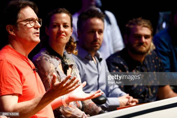 Designer Virtual Reality Visual Effects Kevin Mack artist futurist Zenka CEO Masterpiece VR Jonathan Gagne and Isaac Cohen participate in Unlocking...
