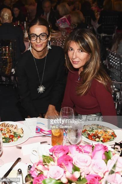 Designer Visnja Brdar and journalist Nina Garcia attend the Breast Cancer Research Foundation New York Symposium and Awards Luncheon at New York...