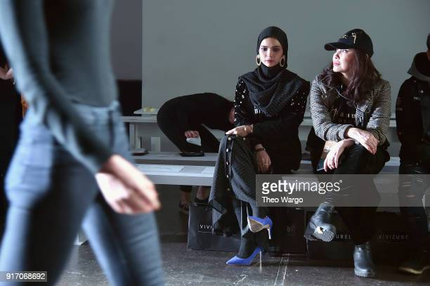 Designer Vivi Zubedi prepares during rehearsal for Vivi Zubedi during New York Fashion Week The Shows at Industria Studios on February 11 2018 in New...