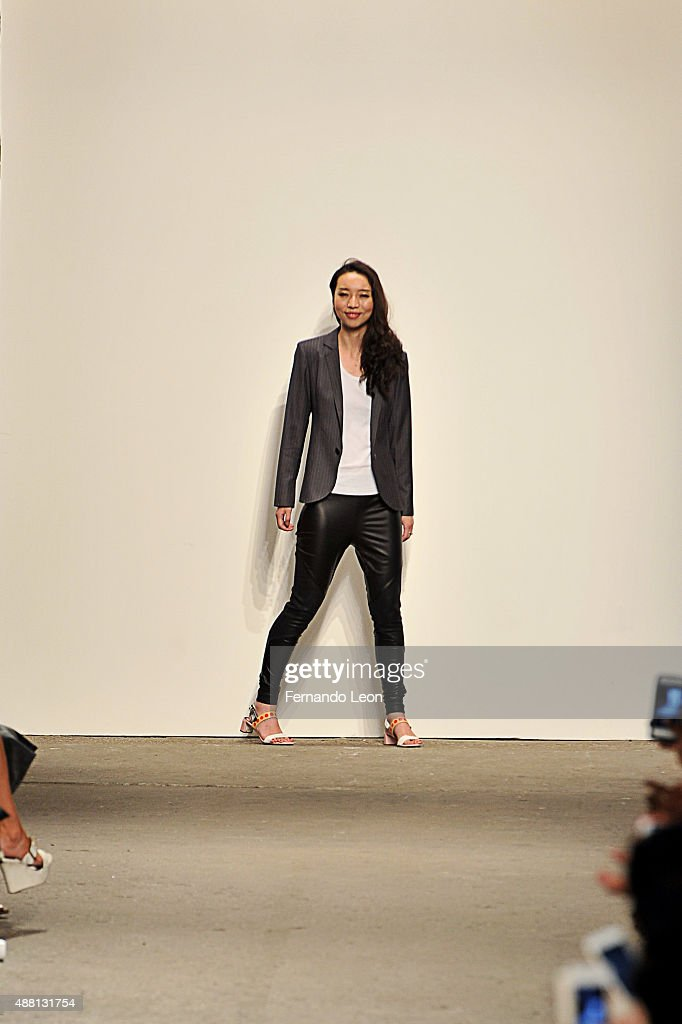 Designer Vivienne Hu walks the runway wearing Vivienne Hu Spring 2016 during New York Fashion Week: The Shows at Art Beam on September 13, 2015 in New York City.