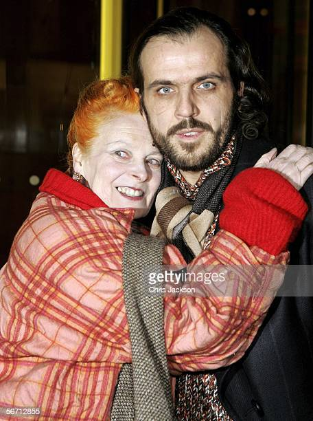 Designer Vivienne Westwood and her husband Andreas Kronthaler attend the private view for Anna Piaggi's new exhibition Fashionology at the Victoria...