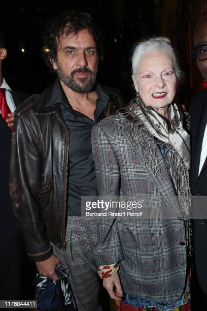 Designer Vivienne Westwood and his husband Andreas Kronthaler attend the Stella McCartney Womenswear Spring/Summer 2020 show as part of Paris Fashion...