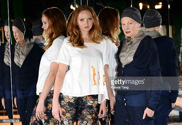 Designer Vivienne Westwood and model Lily Cole make a personal appearance at Selfridges Imaginarium to talk about their work for The Environmental...