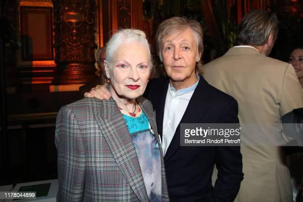 Designer Vivienne Westwood and Paul McCartney attend the Stella McCartney Womenswear Spring/Summer 2020 show as part of Paris Fashion Week on...