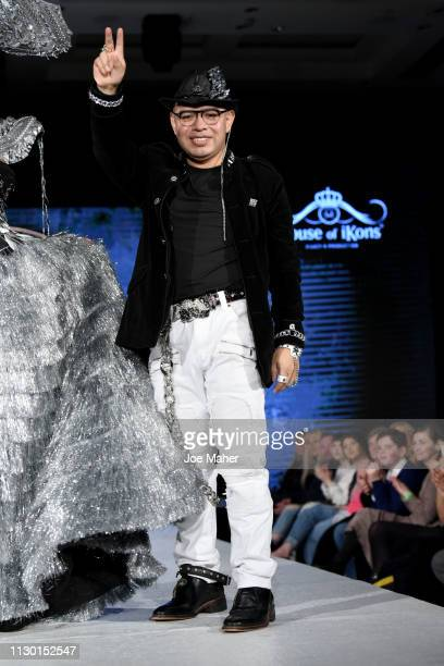 Designer walk the runway for XX at the House of iKons show during London Fashion Week February 2019 at the Millennium Gloucester London Hotel on...