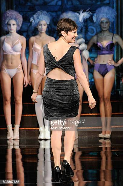 A designer walks the runway during the Liviara show at Art Hearts Fashion NYFW The Shows Presented by AIDS Healthcare Foundation at The Angel...