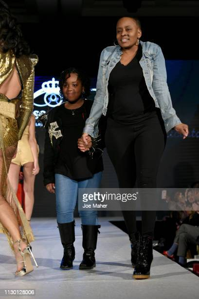 Designer walks the runway for Jacinta Ligon at the House of iKons show during London Fashion Week February 2019 at the Millennium Gloucester London...