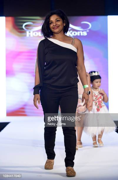 Designer walks the runway for Me Clothing on day 2 of the House of iKons show during London Fashion Week September 2018 at the Millennium Gloucester...