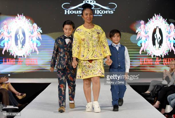 Designer walks the runway for UKing Queen on day 2 of the House of iKons show during London Fashion Week September 2018 at the Millennium Gloucester...