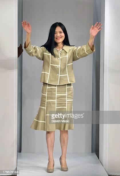 Designer Way Zen attends the JSong Way presentation during MercedesBenz Fashion Week Spring 2014 on September 4 2013 in New York City
