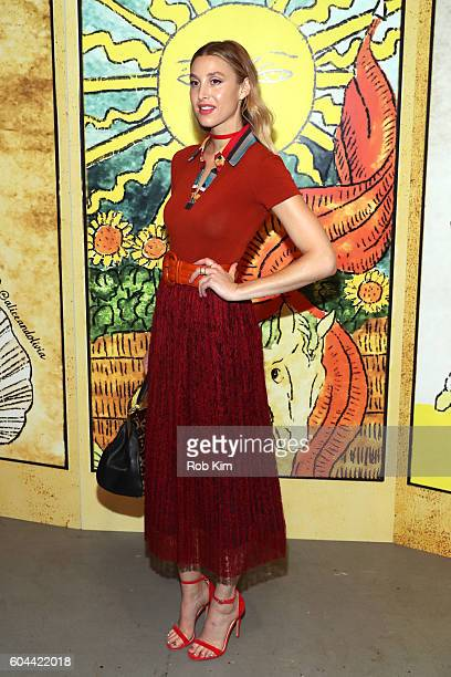 Designer Whitney Port attends the Alice Olivia by Stacey Bendet Spring/Summer 2017 Presentation during New York Fashion Week September 2016 at...