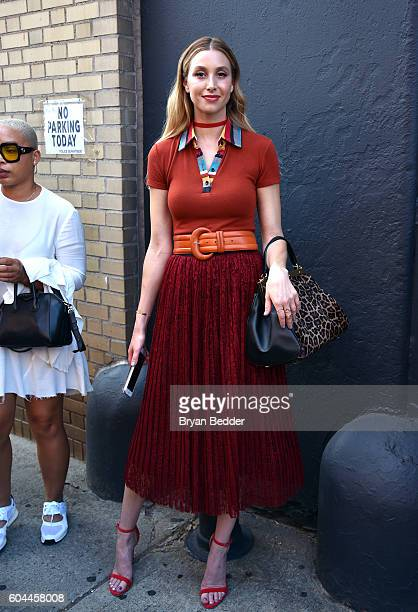 Designer Whitney Port attends the Alice Olivia by Stacey Bendet Spring/Summer 2017 Presentation during New York fashion week at The Gallery Skylight...