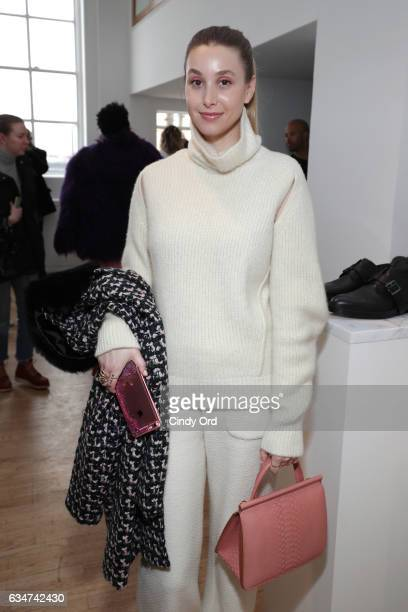 Designer Whitney Port poses for a photo at the Paul Andrew collection during New York Fashion Week The Shows at Ramscale Studio on February 11 2017...