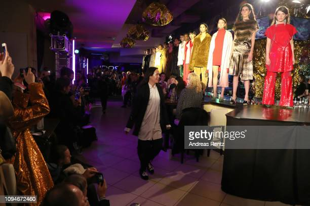 Designer William Fan after the William Fan Defile during 'Der Berliner Salon' Autumn/Winter 2019 at Knutschfleck on January 15 2019 in Berlin Germany