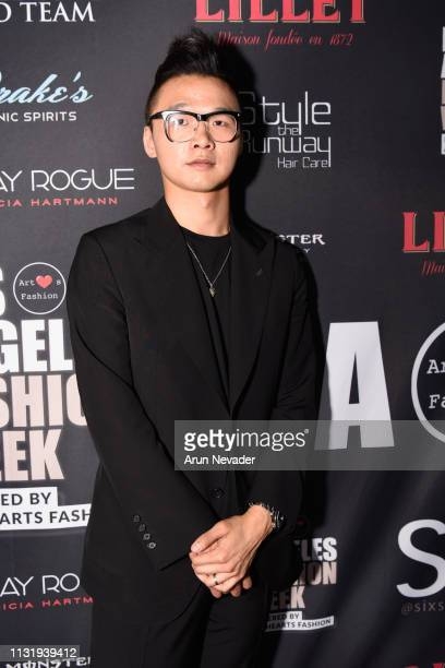 Designer William Lei at Los Angeles Fashion Week FW/19 Powered by Art Hearts Fashion at The Majestic Downtown on March 21 2019 in Los Angeles...