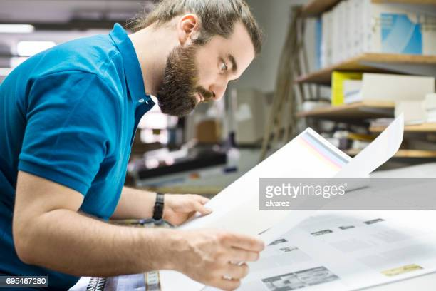 designer working at printing industry - printout stock pictures, royalty-free photos & images