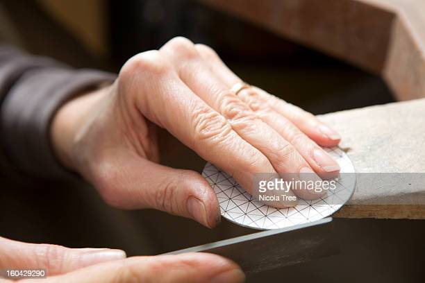 Designer working on a piece of jewellery