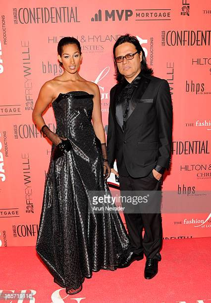 Designer Xavier Othon and his muse model Kiara Belen arrive at the 5th Annual Designer The Muse Hosted By Kathy Hilton at Mr C Beverly Hills on...