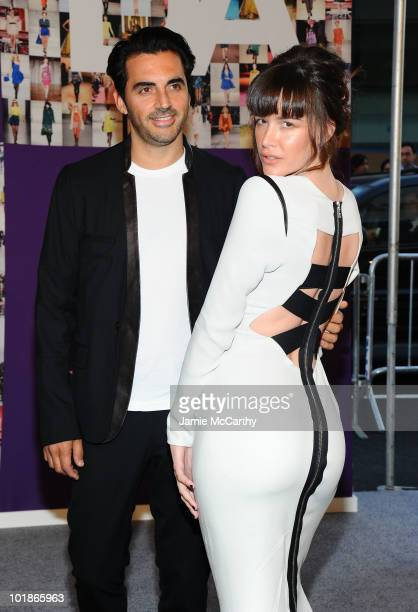Designer Yigal Azrouel and Paz de la Huerta attend the 2010 CFDA Fashion Awards at Alice Tully Hall at Lincoln Center on June 7 2010 in New York City